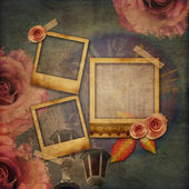 Vintage texture background with watch (time) — Stockfoto