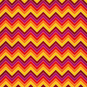 Chevron seamless background with zig zag red, yellow, pink and o — Stock Photo