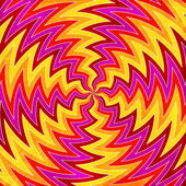 Sunburst rays of red, yellow, orange and pink swirls background — Stock Photo