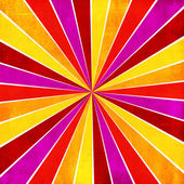 Colorful yellow, pink, orange and red ray sunburst style abstrac — Stock Photo
