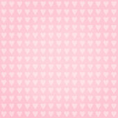 Hearts on pink background - retro seamless pattern — Foto de Stock
