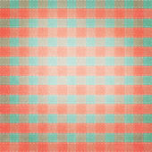 Retro brightly colored green, red and white plaid textile fabric — Stock Photo