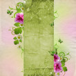 Background for congratulation card in pink and green — Stock Photo #5843423