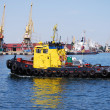Towboat in the port — Stock Photo #2712987