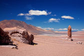 Geological monolith close to Salar Aguas Calientes — Stock Photo
