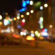 Out of focus timelapse of the dark street — Stock Video