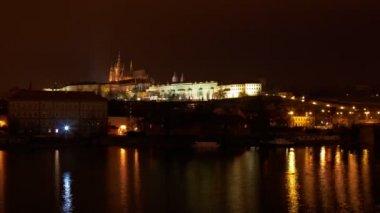 Timelapse of Prague castle — Stock Video