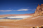 Salt lake Salar de Tara, Chile — Stock Photo
