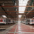 Subway trains in Depot Hostivar, Prague, Czech Republic — Stock Photo