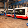 Buses in workshops in Depot Hostivar, Prague — Zdjęcie stockowe #13603754