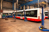 Buses in workshops in Depot Hostivar, Prague — Zdjęcie stockowe