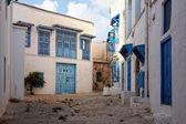 Rue latérale à sidi bou saïd, tunis, tunisie — Photo