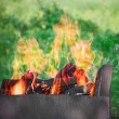 Preparing fire for grill — Stock Photo