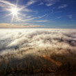 Stock Photo: View on sun over inversion from Jested