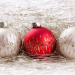 Christmas balls with tinsel — Stock Photo #15338127