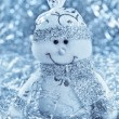 Christmas background with cheerful snowman — Stock Photo #15342557