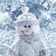 Christmas background with cheerful snowman — Stock Photo #15371681