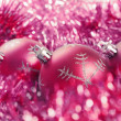 Christmas balls with tinsel — Stock Photo #15441187