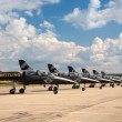 Seven airplanes from Breitling Jet Team — Stock Photo