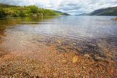 View at lake Loch Ness, Scotland — Stock Photo