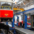 Trams in workshops in Depot Hostivar, Prague — Stockfoto #18132887