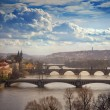 Stock Photo: View on bridges in Prague, Czech Republic