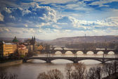 View on bridges in Prague, Czech Republic — Stock Photo