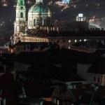 St. Nicholas church in prague at night — Stock Photo