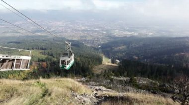 View from upper station on cable way on Jested, Czech Republic — Stock Video