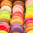 Traditional french colorful macarons in a box — Stock Photo