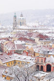 Roofs of Ledebursky palace and St. Nicolas church — Stock Photo