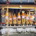 Hindu food offering in a Tampak Siring temple, Bali — Stock Photo #25138693