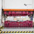 Hydraulic press on car manufacture - Stok fotoğraf