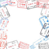 Frame from passport visa stamps — Stock Photo