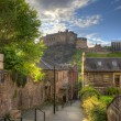 Edinburgh Castle from Heriot place, Edinburgh, Scotland, UK — Stock Photo