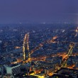 Aerial panoramic view of Paris at night from Tour Montparnasse — Stock Photo