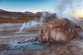 Geyser field El Tatio in Atacama region, Chile — Stock Photo