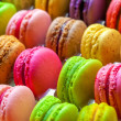 Stock Photo: Traditional french colorful macarons in box