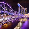 The Helix bridge with Marina Bay Sands in background — Stock Photo #37908157