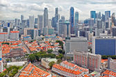 Downtown and Chinatown of Singapore — Stock Photo