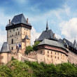 Panoramic view of castle Karlstejn, Czech Republic — Stock Photo #45701327