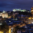 Sunset over night Edinburgh, Scotland — Stock Photo #46764123