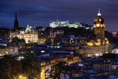 Sunset over night Edinburgh, Scotland — Stock Photo