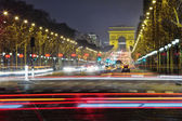 Champs-Elysees at night, Paris — Stock Photo