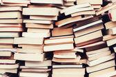 Old books in the flea market — Stock Photo