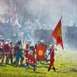 Teutons under attack at Battle of Grunwald festival — Stock Photo