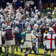 Medieval Knights Fighting - Battle of Grunwald festival — Stock Photo