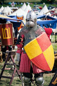 Lithuanian knight at Battle of Grunwald festival — Stock Photo