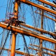Tall ship  rigging — Stock Photo