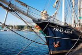 Thalassa sailing vessel — Stock Photo